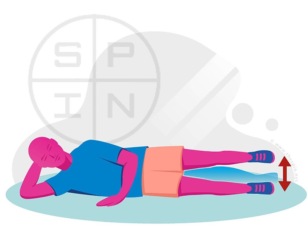 Knee Straight leg raises to the outside1 Exercise
